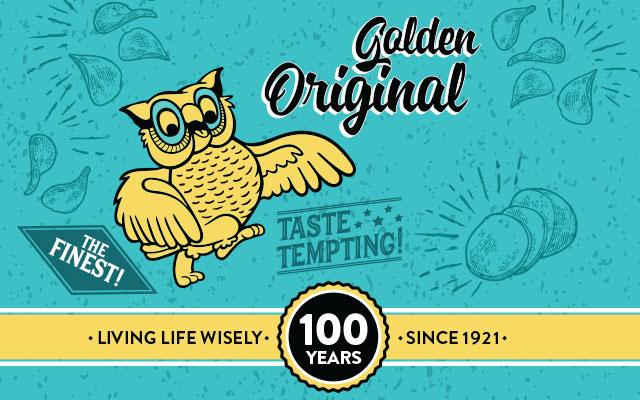 Detalle del personaje de la marca en el diseño de pack Golden Original edición aniversario para Wise, Estados Unidos - Imaginity